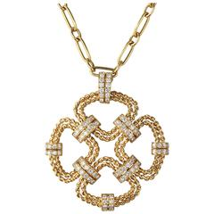 Fred Paris Diamonds Gold Pendant