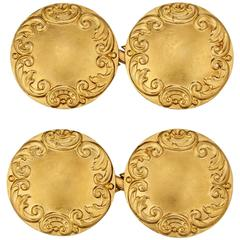 Tiffany & Co. Art Nouveau Gold Cufflinks