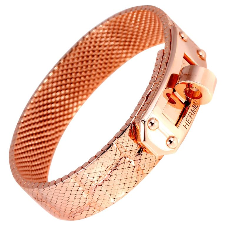 Hermes Kelly Rose Gold Bracelet