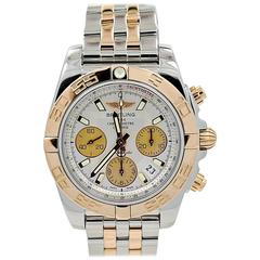 Breitling Rose Gold Stainless Steel Chronomat Automatic Wristwatch