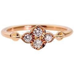 Cartier Flower Diamond Gold Ring