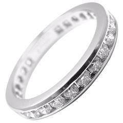Tiffany & Co. Diamond Platinum Full Circle Band Ring