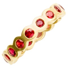 Ruby Gold Eternity Ring