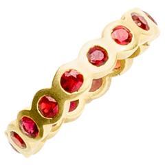 Ruby Gold Eternity Ring