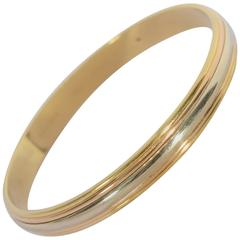 Cartier Tricolor Gold Bangle Bracelet