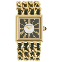 "Chanel Ladies Yellow Gold ""Mademoiselle"" Quartz Wristwatch"