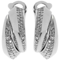Cartier Panthere Diamond White Gold Earrings