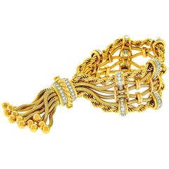 Incredible Sixties Diamond Gold Bracelet by Solvil