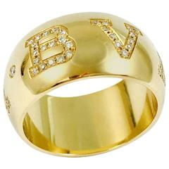 Bulgari Monologo Diamond Gold Band Ring