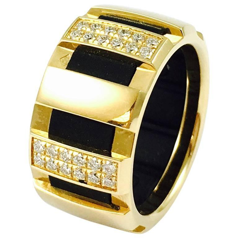 Chaumet Class One Gold Diamond Ring For Sale At 1stdibs
