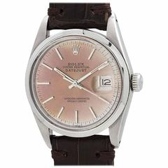 Rolex Stainless Steel Datejust Patina'd Dial Automatic Wristwatch Ref 16000 1978