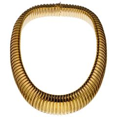 Gold Tubogas Necklace