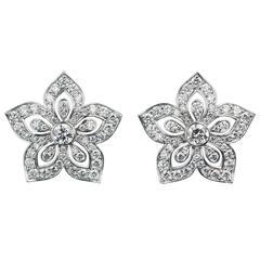 Lucie Campbell Diamond Gold Flower Earrings
