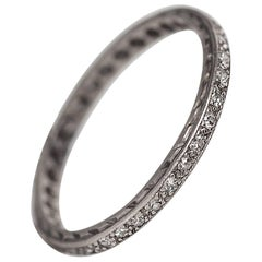 1920s Platinum Art Deco Diamond Eternity Band