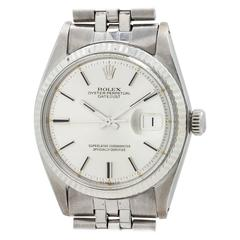 Rolex White Gold Stainless Steel Datejust Automatic Wristwatch Ref 1601 1975