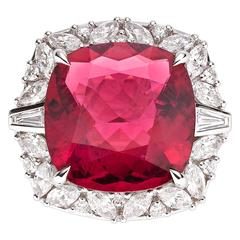 9.38 Carat Rubellite Tourmaline Gold Ring