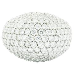 Ferrucc 3.70 carat Diamond Dome Pave' 18k white Ring