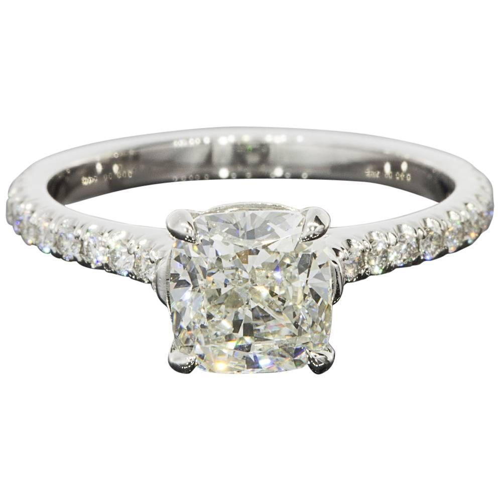 custom platinum 1 96 carats cushion diamonds certified
