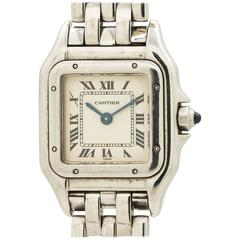 Cartier Ladies Stainless Steel Panthere Quartz Wristwatch