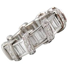 Verdura Diamond Platinum Eternity Band Ring