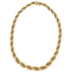 Graduated Two-Color Gold Rope Chain