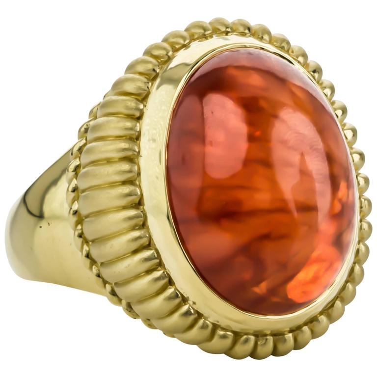 cynthia bach mexican opal gold ring at 1stdibs