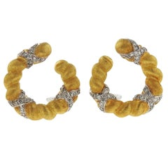 Buccellati Gold Diamond Earrings
