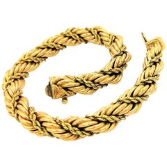 Tiffany & Co. Golden Light Collection Twisted Gold Rope Bracelet