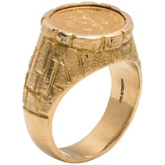 Mexican 22 Karat Gold Peso Coin Ring
