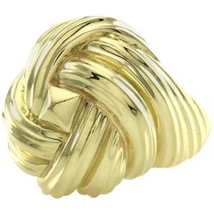 Henry Dunay Woven Gold Dome Gold Ring