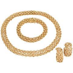 Van Cleef & Arpels Paris Gold Demi Parure