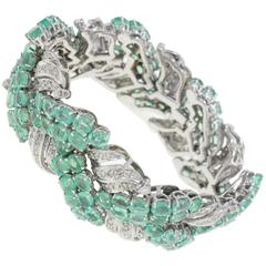 Colombian Emerald Diamond Gold Bracelet
