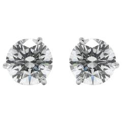 3.44 Carats GIA Certified D VS Diamond Stud Earrings