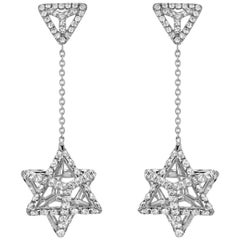 Diamond Earrings 2.39 Carats Platinum