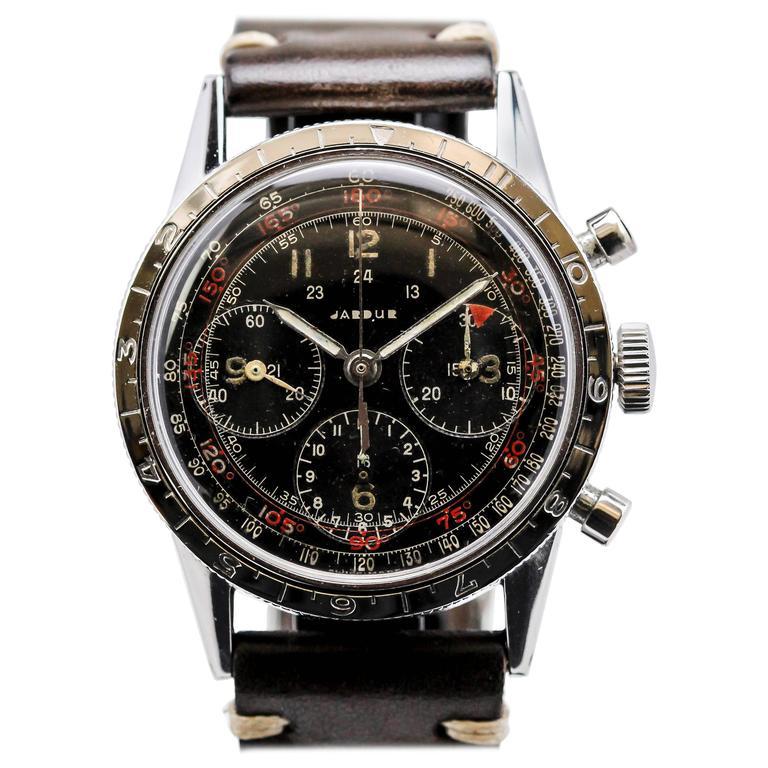 Jardur Stainless Steel Chronograph Manual Wristwatch