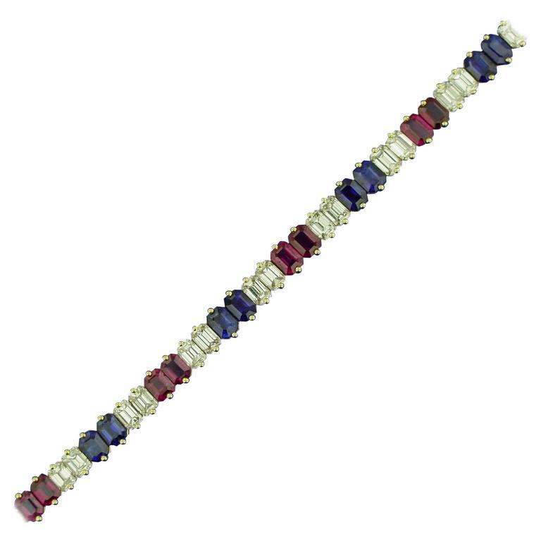Ruby Diamond and Sapphire Bracelet 1