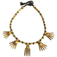 Indian Tamil Nadu Chettiar Gold Marriage Necklace