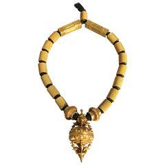 Heavy Indian Tamil Nadu Chettiar Gold Marriage Necklace