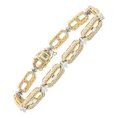 4 Carat Diamond Link Bracelet