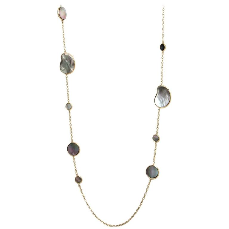"Stunning Ippolita ""Rock Candy"" 36 Inch Mother-of-Pearl Chain Necklace 1"