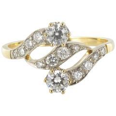 New French Openwork Diamond Design Ring
