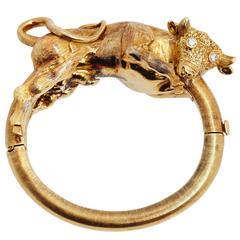 Greek Gold Bull Bracelet