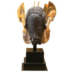 Arman - TETE NOK ( Nok head ) - 2002 signed Bronze