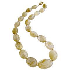 Faceted Rutilated Quartz Necklace