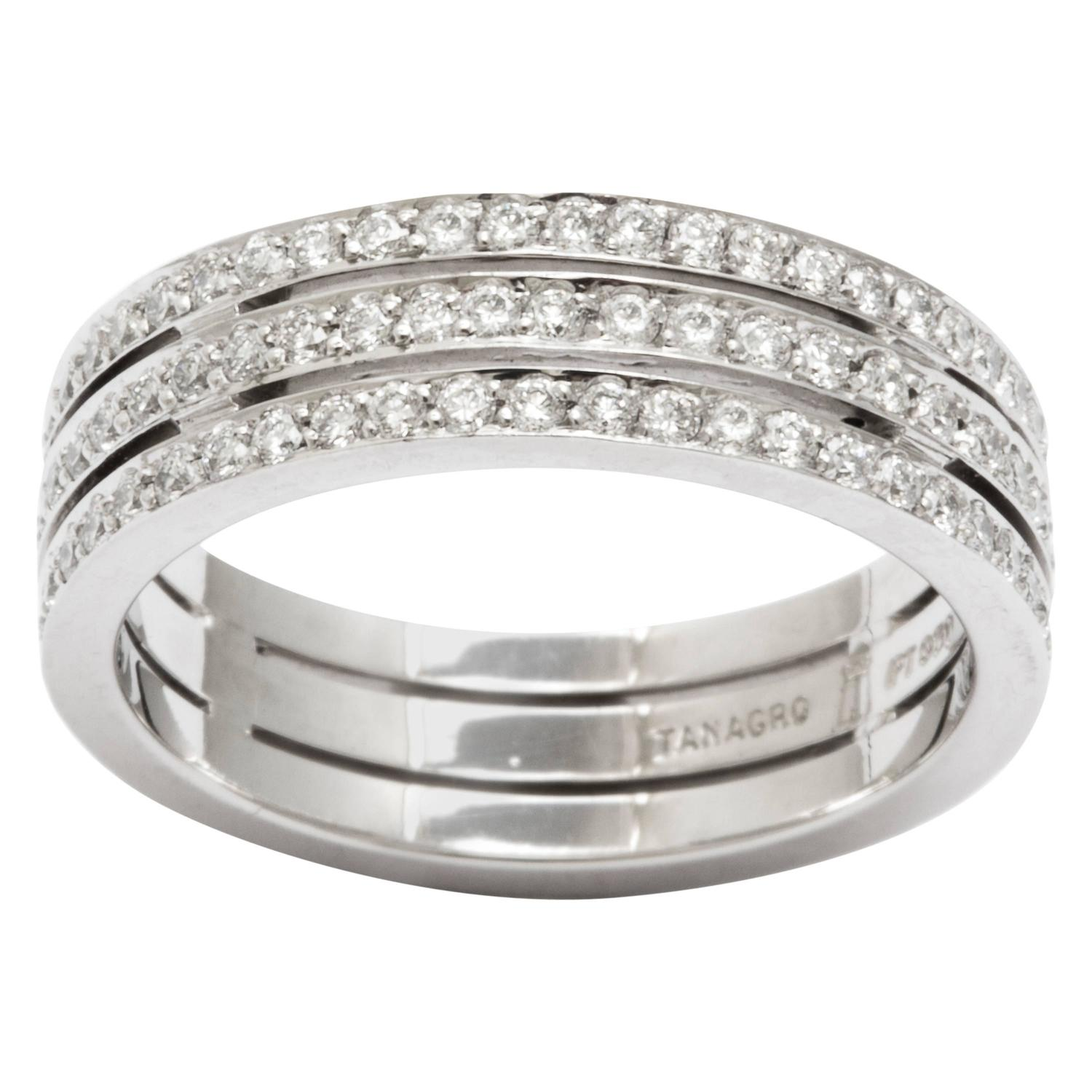 bands diamond si wedding i white ring four in anniversary band stone gold h baguette