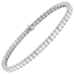 Timeless Diamond Gold Line Tennis Bracelet
