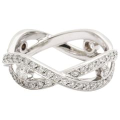 Tanagro 0.93 carats white diamonds Platinum Infinity Vine Ring