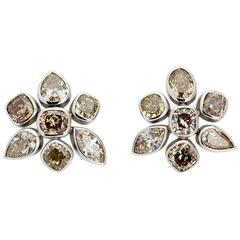 Colleen B. Rosenblat Diamond Gold Earrings