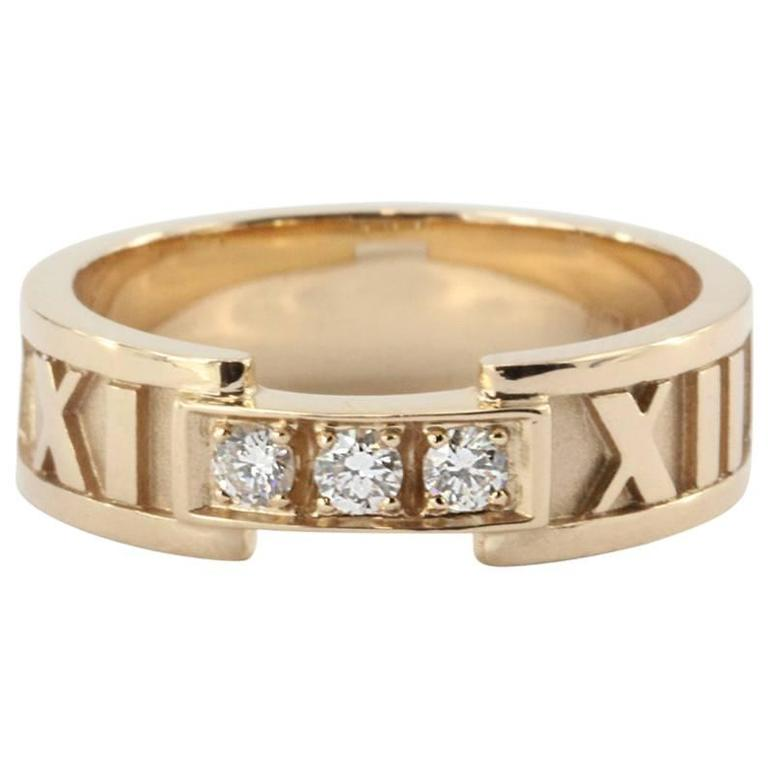 Tiffany & Co. Diamond Gold Atlas Ring  For Sale