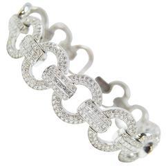 11.05 Carats Diamonds Gold Link Bracelet